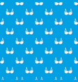 brassiere wear pattern seamless blue vector image vector image