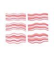 breakfast icons of fresh bacon slices vector image vector image