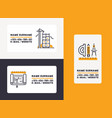 builder business card building construction for vector image vector image