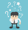 businessmen are confused and have question marks vector image vector image