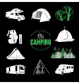 camp icons and logo graphics stamps prints vector image vector image