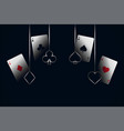 casino playing cards with symbols background vector image