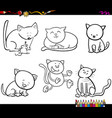 cat characters coloring book vector image vector image