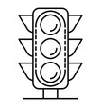 city traffic light icon outline style vector image vector image