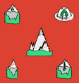 Collection of flat shading style icons nature