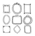 Collection of hand drawn frames Vintage photo vector image vector image