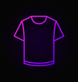 colorful t-shirt linear icon vector image vector image