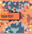 colorful triangles background frame vector image