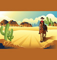 cowboy riding a horse vector image