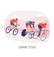 cycling tour vector image
