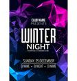 Dance party dj battle poster design Winter disco
