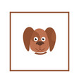 dog head sign domestic animal cartoon puppy icon vector image