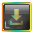 download grey square icon with yellow and green vector image vector image