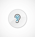 ear icon 2 colored vector image