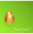Easter background with golden egg vector image vector image