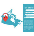 edmonton map infographic vector image