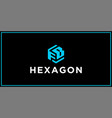 fb hexagon logo design inspiration vector image vector image