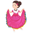female traditional mexican dress vector image