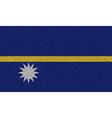 Flags Nauru on denim texture vector image