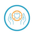 global health assistance icon flat design vector image