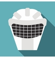 Goalkeeper mask icon flat style vector image vector image