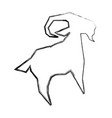 goat animal symbol vector image
