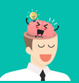 great idea from brain in businessman head vector image