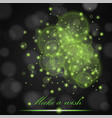 green lights concept abstract on black ambient vector image vector image