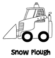 Hand draw of snow plough vector image vector image