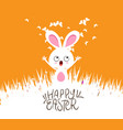 happy easter cards with eggs and bunny vector image vector image