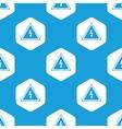 High voltage hexagon pattern vector image vector image
