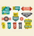 hot prices sale clearance vector image