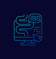 ibs irritable bowel syndrome linear icon vector image