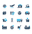 Industry and logistics Icons Azure vector image vector image