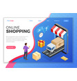 internet shopping online delivery isometric vector image vector image