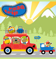 its time to go home with friends with mini red vector image vector image