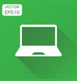 laptop computer icon business concept notebook vector image
