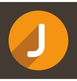 Letter J Logo Flat Icon Style vector image vector image