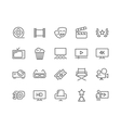 Line Cinema Icons vector image vector image