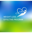 logo special weight loss effective program vector image vector image