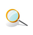 magnifying glass with gradient mesh isolated on vector image vector image