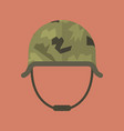 military metal helmet vector image