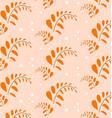 orange leaf pattern style format vector image