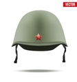 Russion Military classic helmet vector image vector image