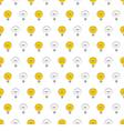 Seamless light bulbs pattern texture background vector image