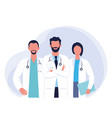 set doctors and nurses vector image