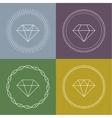 Set gemstones round banner vector image