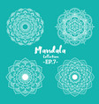 set of mandala decorative and ornamental vector image vector image