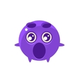Shocked Round Character Emoji vector image vector image