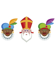 sinterklaas and his helpers vector image vector image